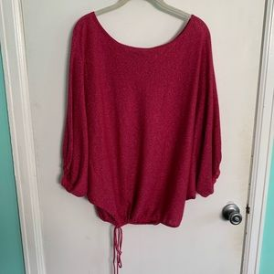 Express off the shoulder/scoop neck Sweater